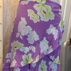 Floral raffle skirt